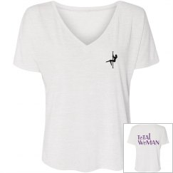 Total Woman Logo T-shirt with small front picture