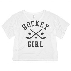 Hockey Girl Cropped Tee
