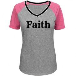 Faith Mesh Sleeve V-neck