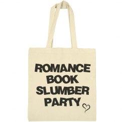 Romance book slumber party bag