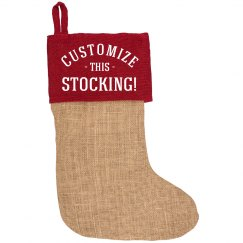 Custom Burlap Christmas Stockings