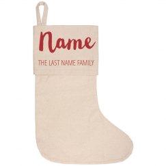Custom Stockings For The Family