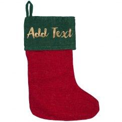 Custom Gold Metallic Text Christmas