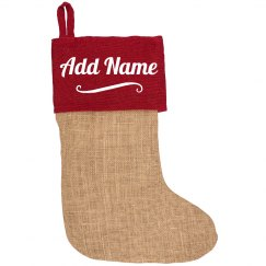 Custom Name Cozy Christmas