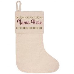 Custom Matching Family Stockings