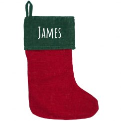 Custom Trendy Burlap Holiday Sock