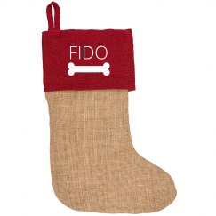 Custom Dog Name Pet Stocking