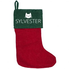 Custom Cat Name Stocking