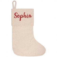 Custom Name Holiday Stocking