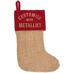 Custom Christmas Stocking Metallic Gold