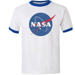 NASA White & Black Ringer Tee