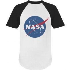 NASA White & Black Ringer Tee