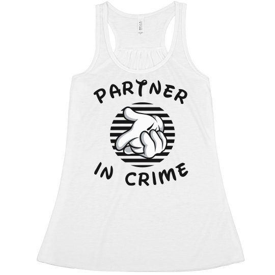 7c8df3bccd103 Partner In Crime 1 Ladies Flowy Boxy Cropped Tank Top