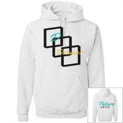 Final DDesigner white hoodie