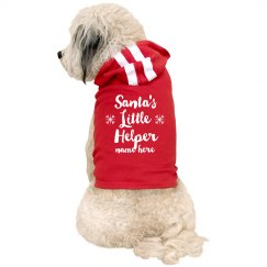 Santa's Little Helper Custom Dog Shirt