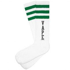 Vape Striped Knee High Socks