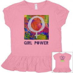 Ruffled Toddler Girl Power Top
