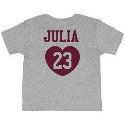 Custom Name & Number Toddler Fan Jersey