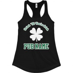 Custom Irish Pub Server Tank Top
