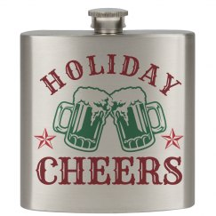 Holiday Cheers Xmas Flask