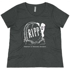 RIPP Plus-Size Tee (White Print)