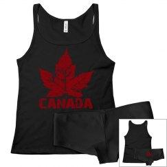 Cool Canada Underwear Set Lady's Canada Top & Panties