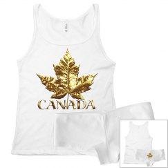 Canada Underwear Set Sports Gold Medal Underwear