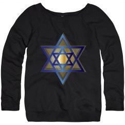 Gold & Blue Star of David