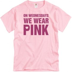 On wednesdays we wear pink 3 men's t shirt.