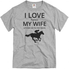 Love wife, love horse races