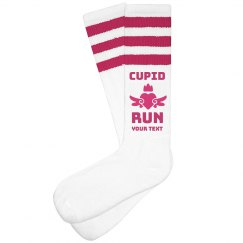 Custom Cupid Run High Socks