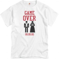 Game Over Groom Tee