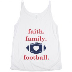 faith family lowercase slouchy tank