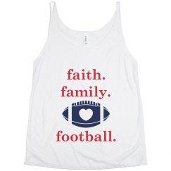 faith family lowercase slouchy tank