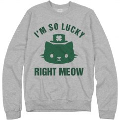 St Catricks Day Lucky Right Meow