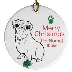 Pug Family Dog Ornament