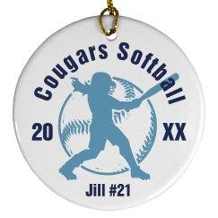 Softball Ornament