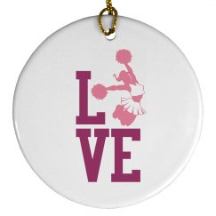 Love Cheer Ornament