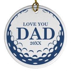 Golf Dad Ornament