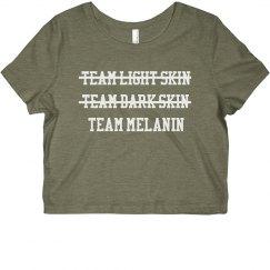 Team Melanin Crop Top