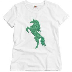 Green Fire Unicorn Shirt