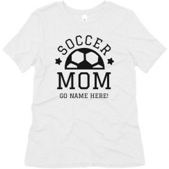 Custom Soccer Mom Trendy Text
