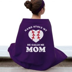 Custom Baseball Mom Blanket