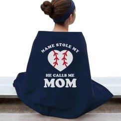 Custom Baseball Mom Blanket