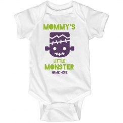 Custom Name Mommy's Little Monster Onesie
