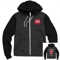 EBX DETROIT Unisex Zip Up Hoodie 2-Tone