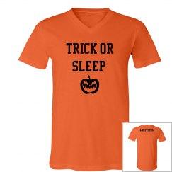 Men's V Neck- Trick or Sleep