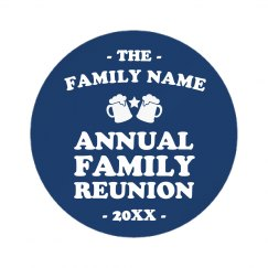 Custom Family Name Annual Reunion