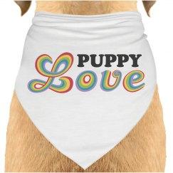 Puppy Rainbow Love