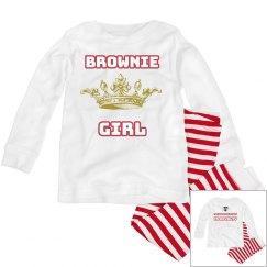 Brownie Girl Royalty Toddler Set